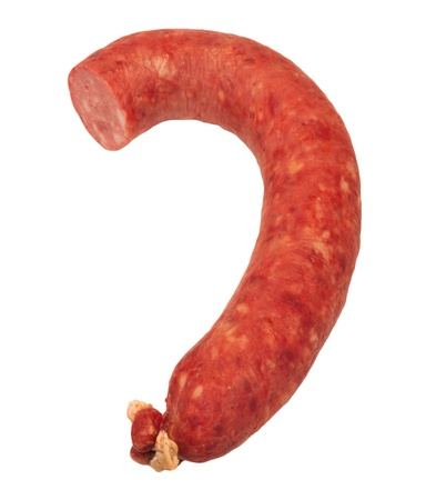 gastronome: sausage on a white background