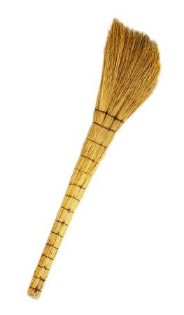 Broom isolated on white  photo