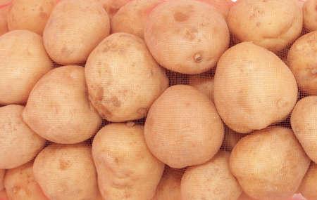 isolated sack of potatoes  photo