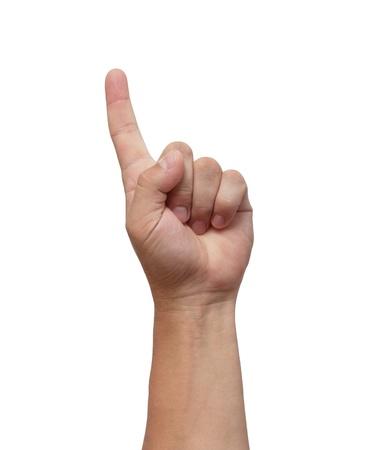 Мужской руке, изолированных на белом фоне