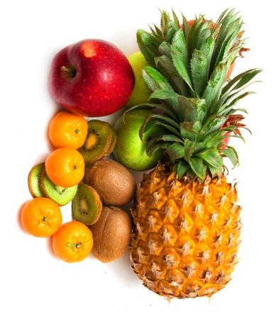 fresh fruit on a white background  photo