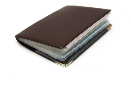 brown book on a white background Stock Photo - 13048493