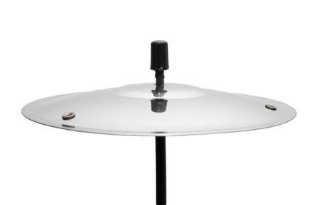 chrome base: piastra dal tamburo su uno sfondo bianco Archivio Fotografico
