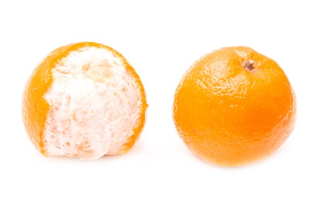 fruited: Two oranges on a white background