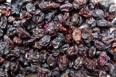 sultana: black raisins (sultana), dried fruits  Stock Photo