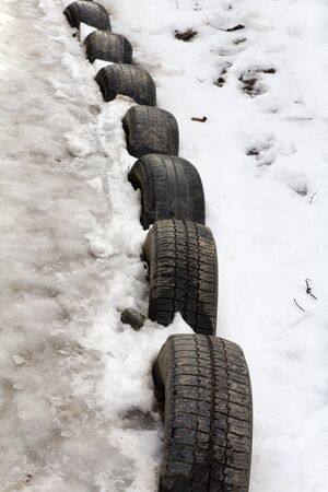 tires in the snow photo