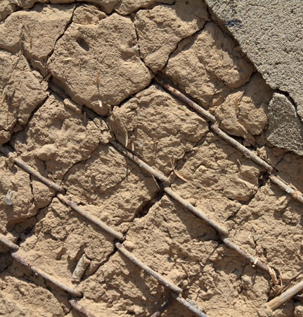 mangy: mangy old wall Stock Photo