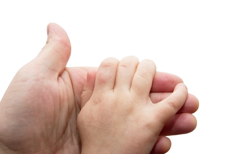 father's and baby's hands  Stock Photo - 13203165