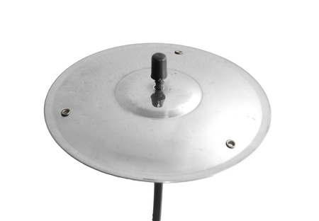 chrome base: plate from the drum on a white background