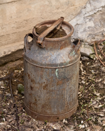 an old rusty barrel photo