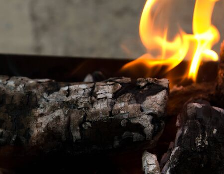 fervour: Fire, burning coal on a barbecue