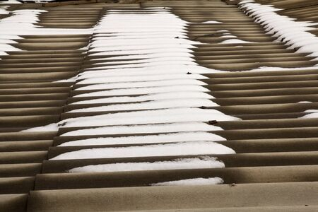 Snow on a slate roof Stock Photo - 13859053