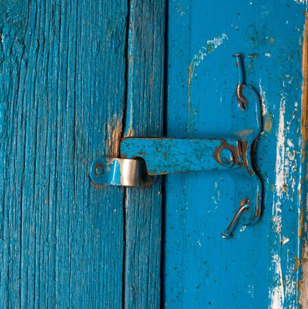 old blue wooden door in the background Stock Photo - 14063012