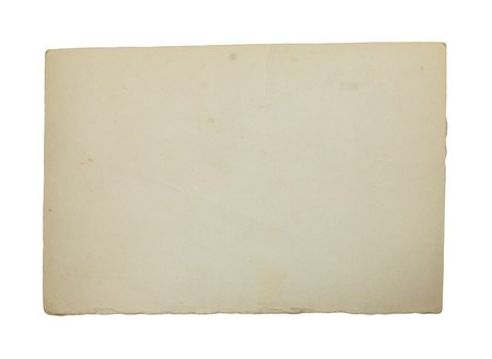old paper on white background photo