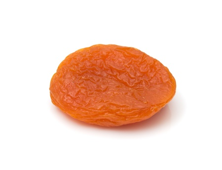 oxidative: Dried apricots on a white background