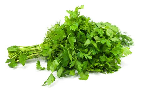 parsley on a white background photo