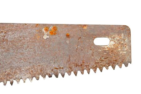 the old saw on a white background photo