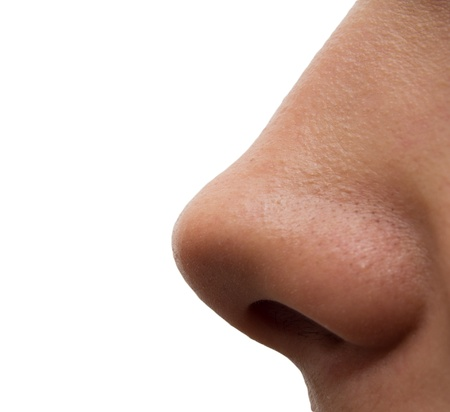 girls nose. macro Stock Photo