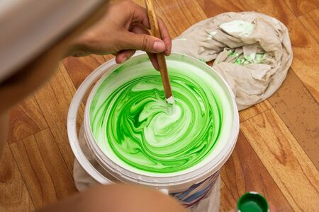 white and green emulsion Stock Photo - 14928145