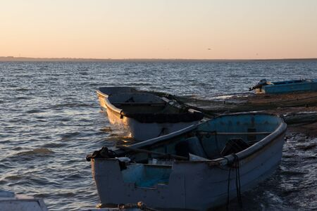 fishing boat at sea photo