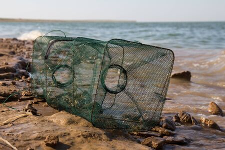 mesh cage for fishing photo