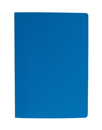 Cover blue book on a white background photo