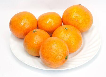 tangerine: tangerine on white background