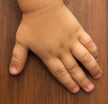 human body parts: hand of a child Stock Photo