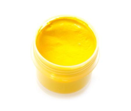 yellow gouache on white background Stock Photo - 15721625