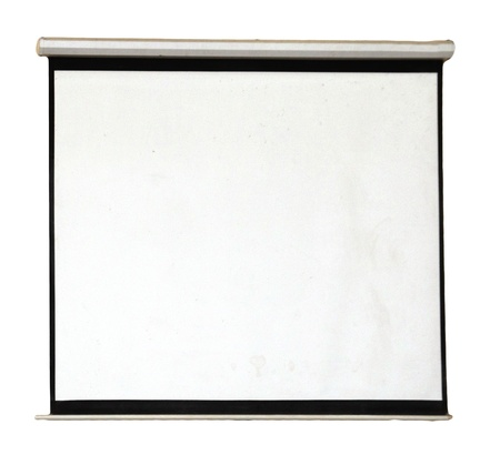 white screen on the wall as background photo