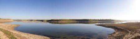 divergence: Panoramic photo of lake Stock Photo
