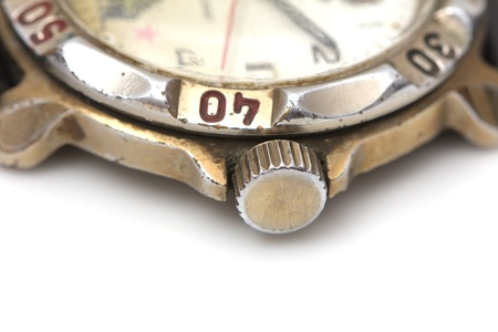old watch: old watch. macro Stock Photo