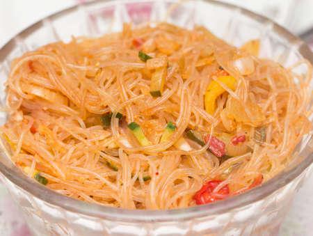 korean salad: funchoza. Korean salad