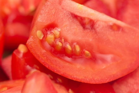 background of the tomato. macro photo