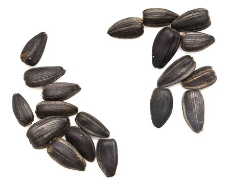 black seeds: black seeds on a white background. macro
