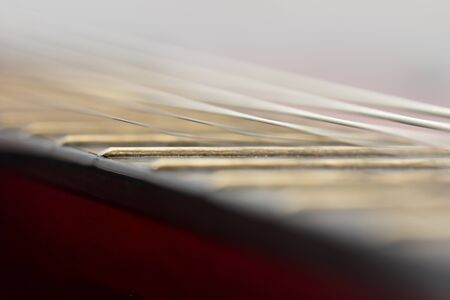 strings on a guitar. macro Stock Photo - 16279880