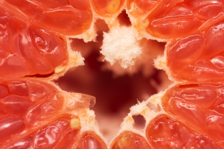 grapefruit as a backdrop. macro photo