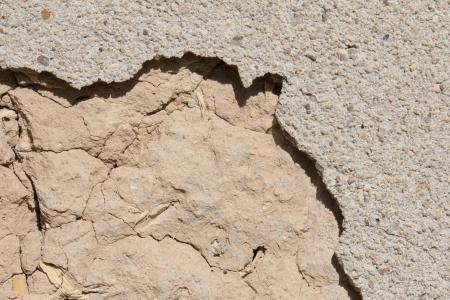 de fondo de la pared de barro de edad Foto de archivo - 16280928
