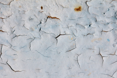 background of old cracked blue paint photo