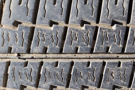 old tire tread as background Stock Photo - 16280952