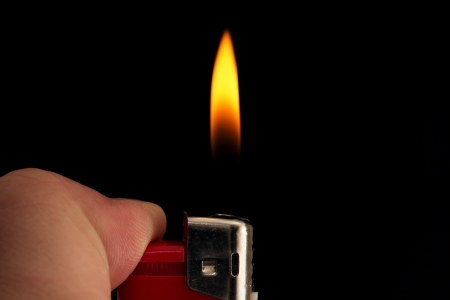 fire lighters on a black background Stock Photo - 16278548