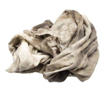 dirty rag on a white background Stok Fotoğraf - 16617000