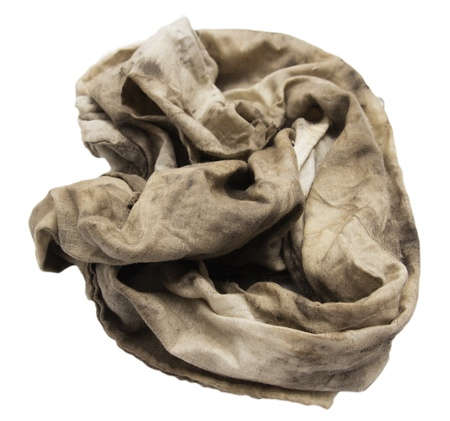 dirty rag on a white background photo