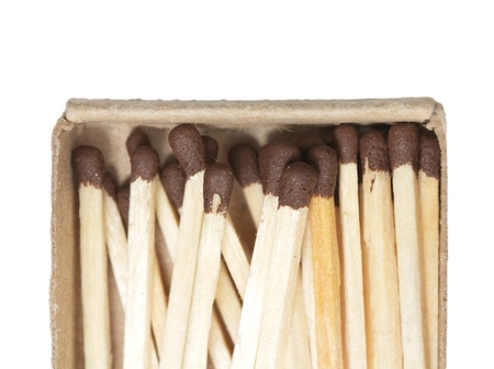 matches on a white background Stock Photo - 17113611