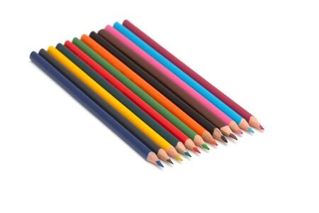 colored pencils. macro Stock Photo - 17113128