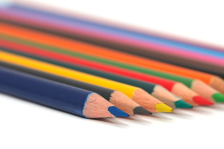 colored pencils. macro Stock Photo - 17114219