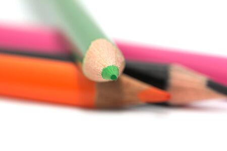 colored pencils. macro Stock Photo - 17113552