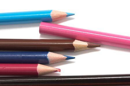colored pencils. macro Stock Photo - 17114175
