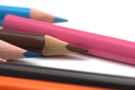 colored pencils. macro Stock Photo - 17114218