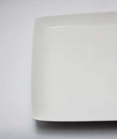 white plate on a white background photo